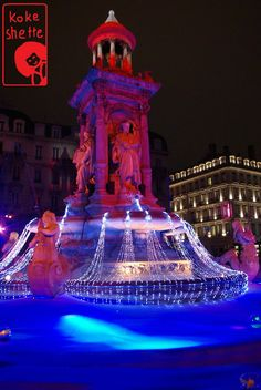 Fontaine des Jacobins, Fête des lumières 2010, Lyon, France, #lyon