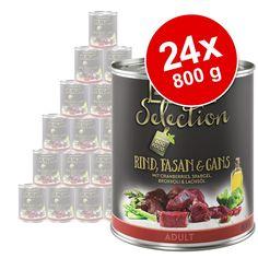 Animalerie  Lot zooplus Selection 24 x 800 g pour chien  Adult Sensitive poulet riz