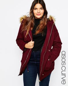 Image 1 of ASOS CURVE Ultimate Parka
