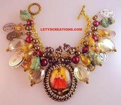 Catholic Infant of Prague Saints Religious Medals Handcrafted Charm Bracelet | eBay www.letyscreations.com #catholic #infantofprague #jewelry