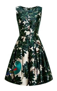 Embroidered Silk-Blend Mikado Dress by Oscar de la Renta - Moda Operandi I can just see me in this at the Family Prayer conference theme: Growth Dress Me Up, Dress Skirt, Fashion Moda, Lovely Dresses, Carrie, Passion For Fashion, Dress To Impress, Summer Dresses, Short Dresses