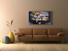 Large horizontal artwork to bring joy and happiness - worry free on your wall! Oil on canvas. Joy And Happiness, Oil On Canvas, Paintings, The Originals, Wall, Artwork, Toys, Home Decor, Free
