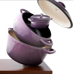 These pots from Target! I want purple to be one of my kitchen colors