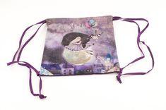 Anekke Ballerina vrecko na prezuvky alebo iné drobnosti Ballerina, Drawstring Backpack, Backpacks, Nature, Bags, Handbags, Naturaleza, Ballet Flat, Backpack