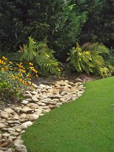 Image result for landscape edging with river jack rock