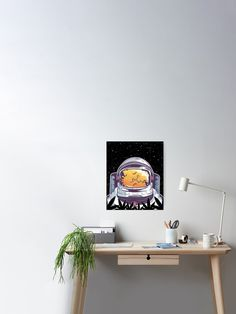Smoking Weed Spaced Out High As Space 24 x 36 Poster