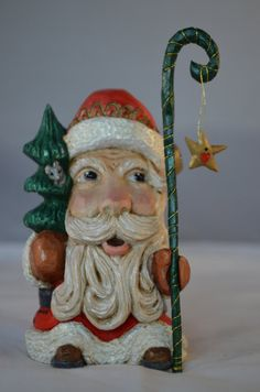 Santa Collectible Follow Your Star Star by SusanAlexanderCarves, $125.00