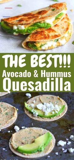 #fingerfoodpartyappetizers Avocado Hummus, Healthy Hummus, Avacado Snacks, Avocado Quesadilla, Hummus Food, Avocado Food, Easy Snacks, Healthy Snacks For Kids, Easy Meals