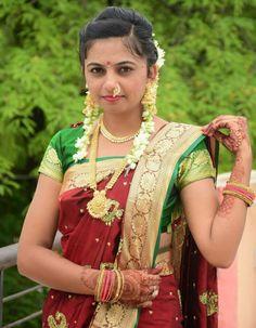 Beautiful Girl Indian, Beautiful Saree, Beautiful Bride, Beautiful Women, Nose Ring Jewelry, Marathi Bride, Nauvari Saree, Girl Photos, Blouse Designs