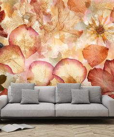 Another great find on #zulily! Dried Flowers Wall Mural #zulilyfinds