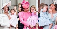 Mummy's little Princess Princess Charlotte with her mother, The Duchess of Cambridge, during all of her Trooping the Color appearances!…