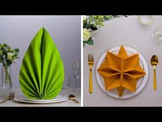 I'm so Ready to Throw a Dinner Party When We Get out of Quarantine! Napkin Folding Hacks by Blossom I'm so Ready to Throw a Dinner Party When We Get out of Quarantine! Fancy Napkin Folding, Bunny Napkin Fold, Folding Napkins, Christmas Tree Napkin Fold, Ostern Party, Indoor Crafts, Party Hacks, Ideas Party, Dinner Napkins