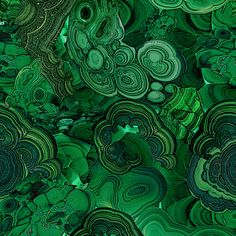 Second version of my malachite fabric, this one is more subtle with colder green (closer to real malachite green) Colors printed on fabric may vary, please order swatch first if you're interested in buying larger amounts of fabric.