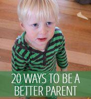 Parenting posts - be a better parent