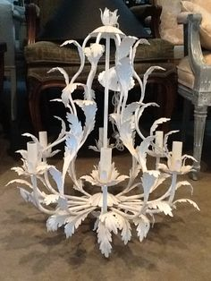 Chandelier Hollywood Regency Vintage Tole- I have become obsessed with hollywood regency....