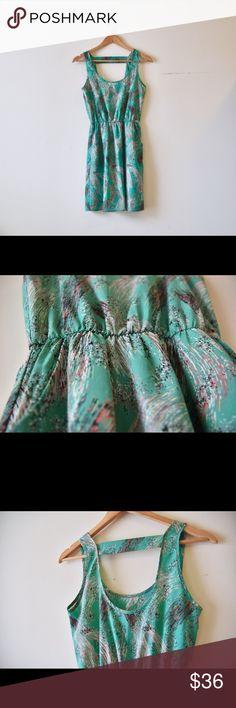 Modern art dress Pretty brush strokes print knee length dress perfect for spring layering / summer. Sleeveless, lined skirt, scoop neck, elastic waist - and my favorite part, pockets! Lush Dresses Mini