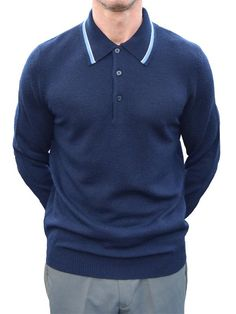 bfd44ca96 Art Gallery Navy Tipped Polo Shirt