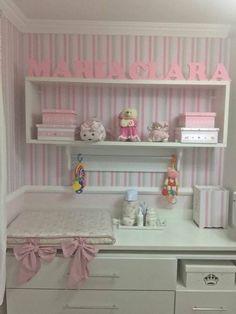 Small Room Decor, Nursery Room Decor, Girl Nursery, Girls Bedroom, Bedroom Decor, Newborn Room, Baby Room, Baby Kit, Ideas Hogar