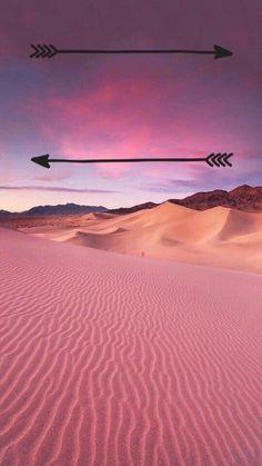 Fond d'écran IPhone magnifique paysage désert rose
