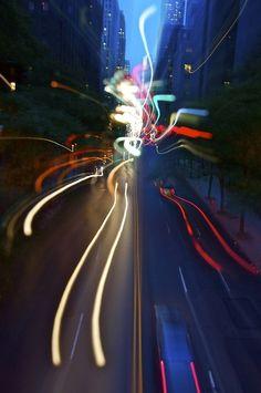 night street scene