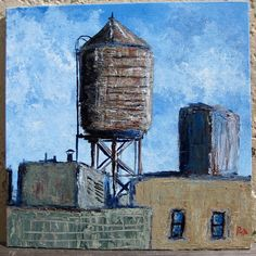 Original New York City Water Tank Ver2 Acrylic by VistaArtworks, SOLD