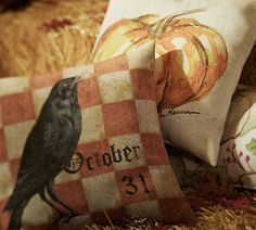 Spook up your home with Halloween pillows.