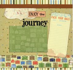 journey scrapbook pages | Travel Premade Scrapbook Page - Enjoy the Journey ...