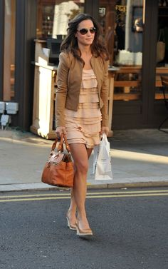 neutral dress with jacket love.