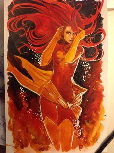 Dark Phoenix by Stephanie Hans