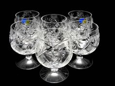 6 Russian Cut Crystal Cognac Snifters 300Ml/10Oz Hand Made, 2015 Amazon Top Rated Goblets & Chalices #Kitchen