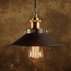 Modern Vintage Industrial Metal Black Bronze Loft Bar Ceiling Light Shade Retro Pendant Light - - Amazon.com