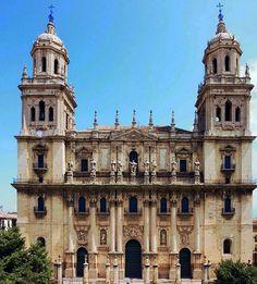 CATEDRAL DE LA ASUNCION-JAEN Cordoba Andalucia, Andalusia Spain, Cadiz, Spanish Architecture, Religious Architecture, Malaga, Magic Places, Kirchen, Dom