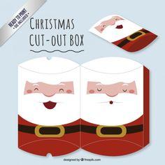 Papai Noel bonito cortar caixa