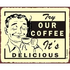 Coffee Tea Retro Vintage Signs Retro Vintage Wall Decor, Res ...