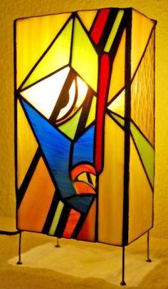 玻璃燈桌面,錫,銅蒂芙尼