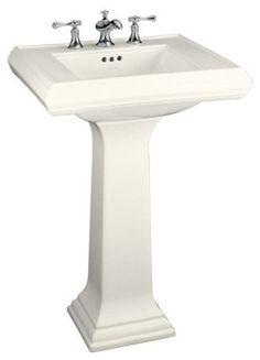 Kohler Memoirs Pedestal Sink Traditional Bathroom Sinks Other Metro Home Depot