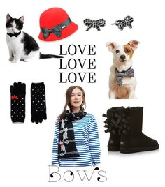 """""""Bow accessories"""" by glenys-little ❤ liked on Polyvore featuring Alice Hannah, UGG Australia, Betmar and Marc Jacobs"""