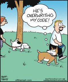Off the Mark by Mark Parisi for January 2016 - Today Pin Cartoon Jokes, Cartoon Dog, Funny Cartoons, Funny Comics, Wtf Funny, Funny Dogs, Funny Animals, Hilarious, Funny Farm