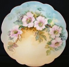 D\u0026C Limoges France Antique Porcelain Plate with Hand Painted Sweetheart Roses - - Only Fine Lines | Handpainted Limoge Porcelain | Pinterest | Porcelain ... & D\u0026C Limoges France Antique Porcelain Plate with Hand Painted ...