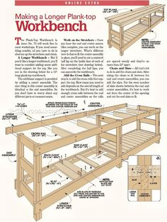 #2450 Heavy Duty Workbench Plans - Workshop Solutions