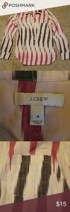 J Crew Ladies Shirt Size 4....EUC......5 Buttons down the front. Buttoned long sleeves. j crew Tops Button Down Shirts