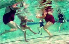 More Fun in the Water: Water aerobics is fun for all ages and sizes.