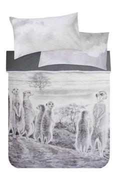 Meerkat Photographic Printed Duvet Cover Set