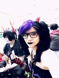yeah CAH in the hallway seemed more fun than going to the panel so we just did that instead. March!Eridan cosplay for Anime Midwest 2015