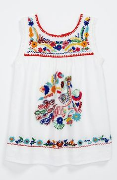 Free shipping and returns on Peek 'Plume' Dress (Baby Girls) at Nordstrom.com. Colorful, embroidered flora and fauna enliven a cheerful sleeveless dress woven from lightweight cotton.
