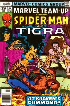 Marvel Team Up #67 Featuring Spider-Man and Tigra Marvel Comics Group March 1978 $.35