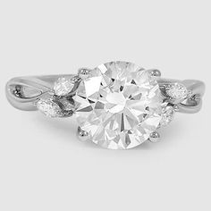 Platinum Willow Diamond Ring