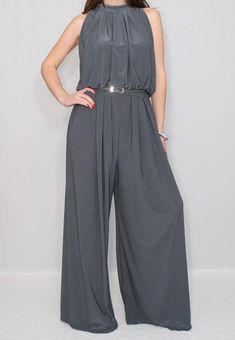 b7e1ed4891f plus size jumpsuit  plussizejumpsuit Gray Formal Dress