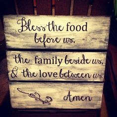 Love the prayer, but not the rustic look- would do it in a different finish