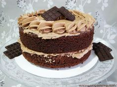 Tarta de chocolate con buttercream de Nutella, chocolate cake with Nutella buttercream Nutella, Sweet Recipes, Goodies, Ice Cream, Ethnic Recipes, Desserts, Food, Chocolate Cakes, Cooking Ideas